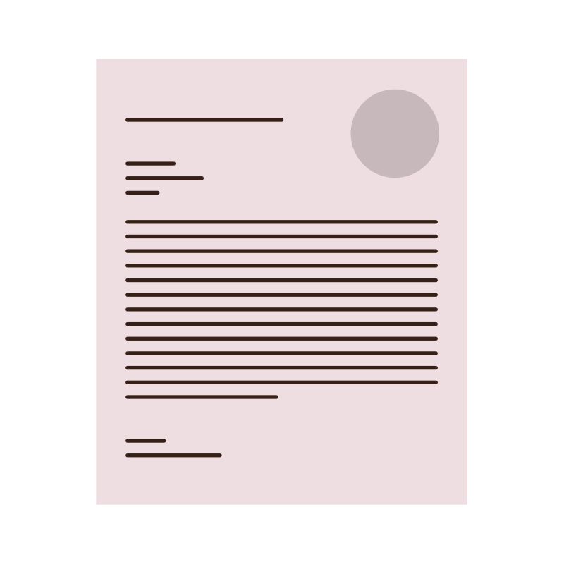 Cover Letter Writing Illustration